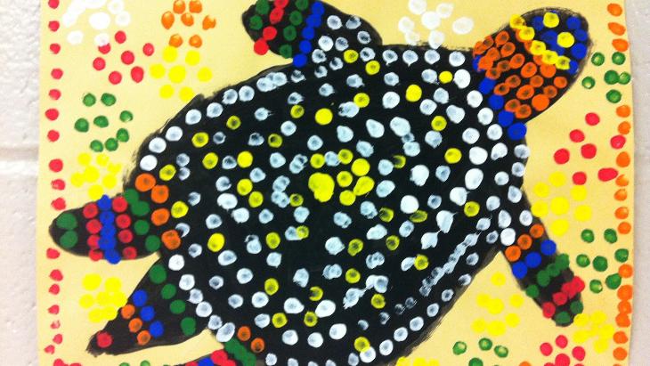 Art For Kids Aboriginal Inspired Dot Painting Ellaslist