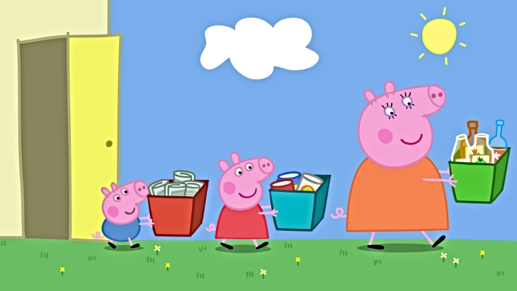Peppa pig recycling fun