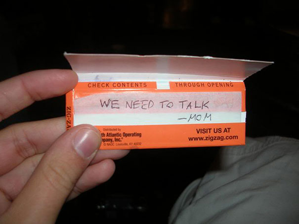 smoking note